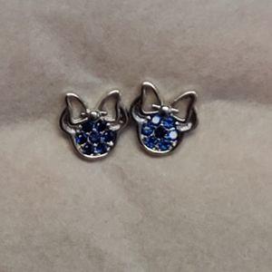 Blue Minnie Sterling Silver Studs